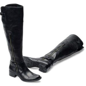 BORN CROWN SELYSE Riding Boot Over Knee Black 6.5